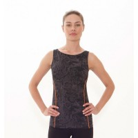 Asquith London Live Fast Boatneck yogatop - snakeskin - Small