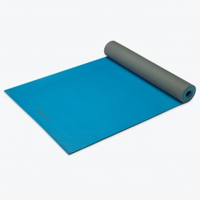 Gaiam Studio Athletic yogamat - blauwgrijs - 5mm