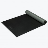 Gaiam Studio Athletic yogamat - zwart - 5mm