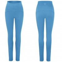 Gossypium - Curve Ultra High Waist Yoga Legging - Lake Blue - XL